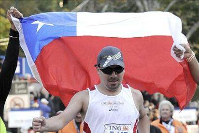 Peña, el minero chileno, logró completar el maratón en 5 horas y 50 minutos