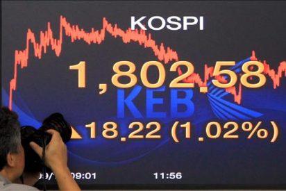 El índice Kospi subió 7,80 puntos, el 0,40 por ciento, hasta 1.946,76 puntos