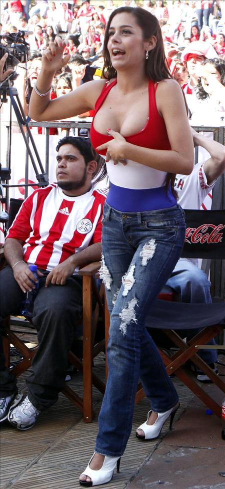 """La selección paraguaya desmiente su vínculo con la """"Novia del Mundial"""""""