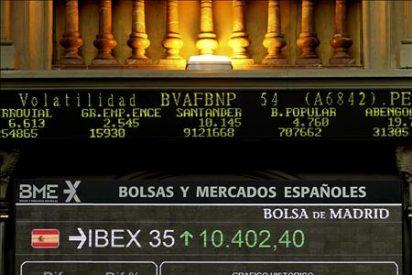 La bolsa española sube el 1,15 por ciento y supera el nivel de los 10.400 puntos