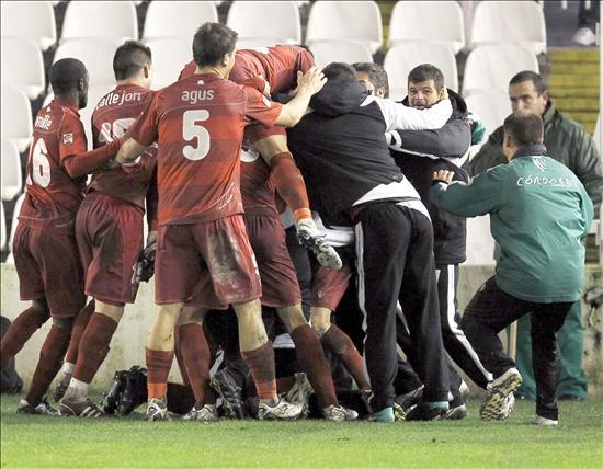 3-1.El Córdoba elimina al Racing, de penalti, en el último minuto de la prórroga