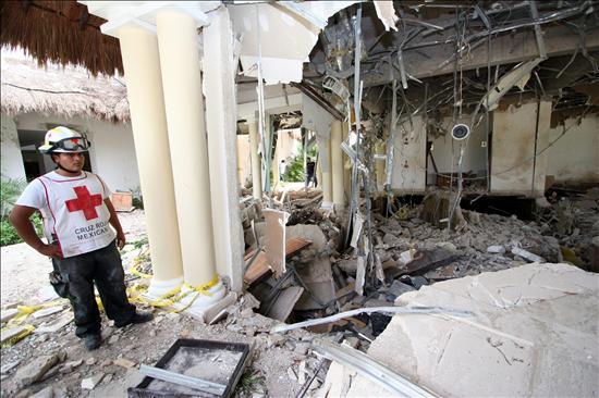 Seis muertos y entre 15 y 20 heridos en explosión en un hotel mexicano