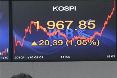 El Kospi subió 5,57 puntos, el 0,29 por ciento, hasta 1.918,69 enteros