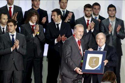 Blatter reconoce en el homenaje a la selección que España ganó el Mundial