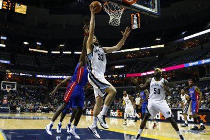 105-84. Randolph encabezó el ataque ganador de Grizzlies; Gasol, 10 puntos