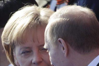 Merkel escéptica frente a la propuesta de Putin de la zona de libre comercio UE-Rusia