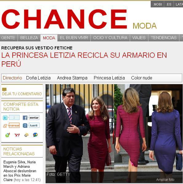 La Princesa Letizia recupera su vestido fetiche en Perú