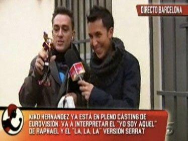 """Kiko Hérnández cada vez más cerca de 'Eurovisión' y J.J. Vázquez le dice: """"Cantas como el culo"""""""