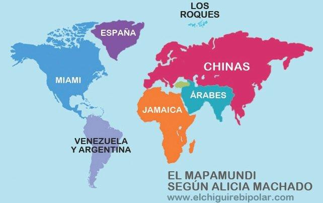 El Mapamundi según Alicia Machado