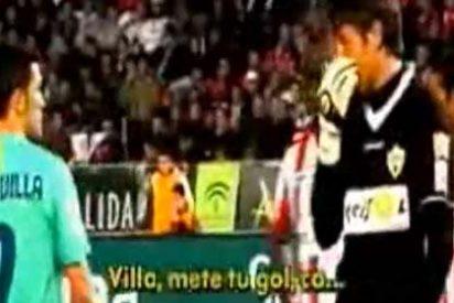 """El portero del Almería, a David Villa: """"Mete tu gol, cabrón"""""""