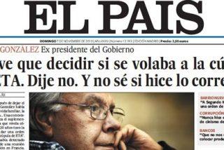 """Felipe González: """"Me resisto a ser un tertuliano; no soy un profesional para opinar de lo que sé y de lo que no sé"""""""
