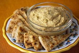 Hummus sin tahini muy fácil