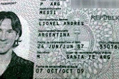 Cuelgan el pasaporte de Lionel Messi en internet