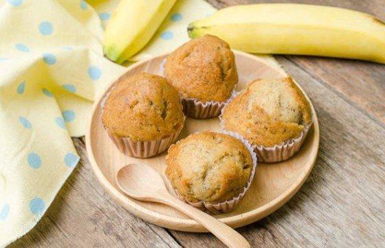 Muffins de plátano: receta de aprovechamiento
