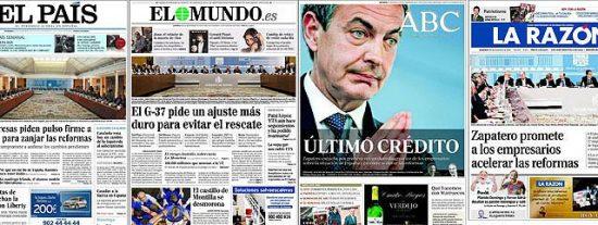 """Los empresarios a Zapatero: """"Es una situación de emergencia; gobierne usted de una vez"""""""