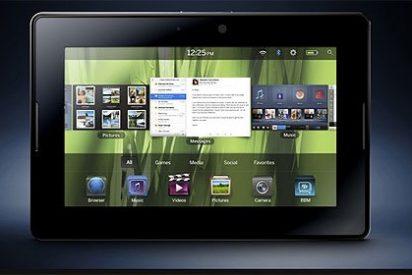 La tableta de BlackBerry desafía a la iPad en un vídeo