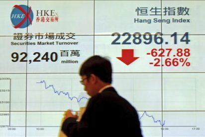 El índice Hang Seng pierde 65,49 puntos, 0,28 por ciento, hasta 23.362,66