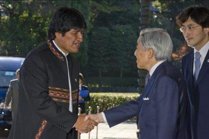 El emperador de Japón ofrece un almuerzo a Evo Morales en el Palacio Imperial