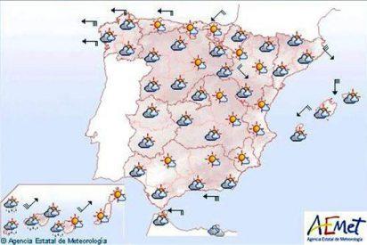 Mañana, muy nuboso en la mayor parte de la península y viento fuerte en Galicia