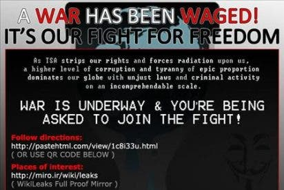 Hackers toman la bandera de WikiLeaks para iniciar la I Guerra de la Información