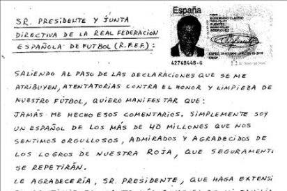 Eufemiano Fuentes desmiente en una carta las declaraciones sobre la Eurocopa y el Mundial