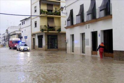 El arroyo Argamasilla inunda otra vez calles y garajes de Écija (Sevilla)