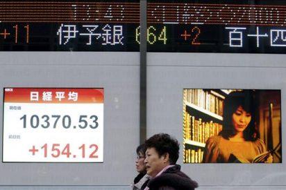 El Nikkei sube 76,80 puntos, el 0,75 por ciento, hasta los 10.335,99 puntos