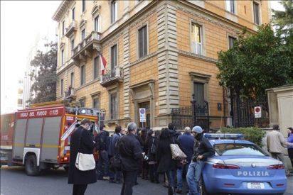 Hallan una bomba en la embajada de Grecia en Roma tras los ataques del jueves