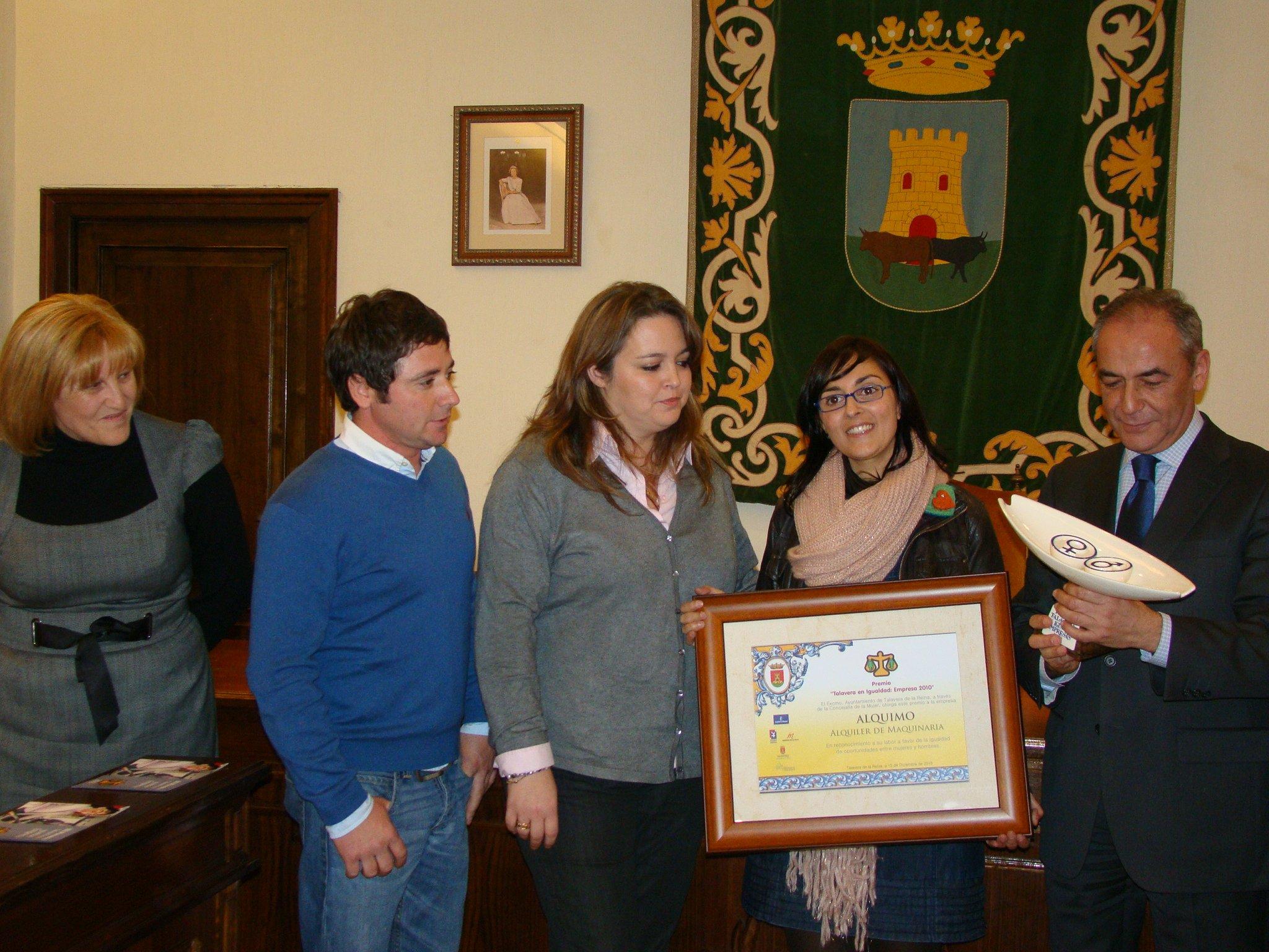 Alquimo alquiler de maquinaria obtiene el premio Talavera en Igualdad: Empresa
