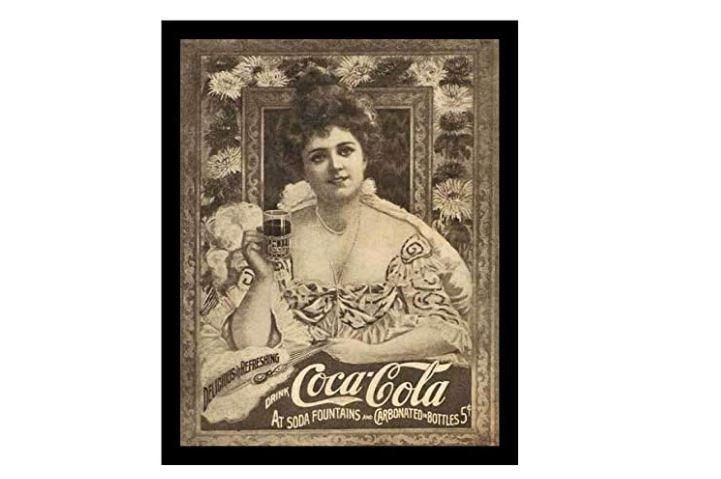 coca cola cartel antiguo