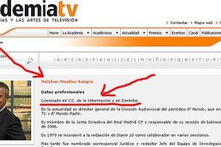 De 'licenciado' Miralles a 'Malhechor' Miralles o del currículo falso al reportaje trucado (I)
