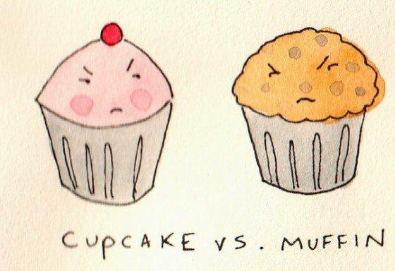 Diferencia entre muffins, magdalenas y cupcakes