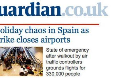 """La prensa internacional destaca la """"caótica"""" situación de los aeropuertos españoles"""