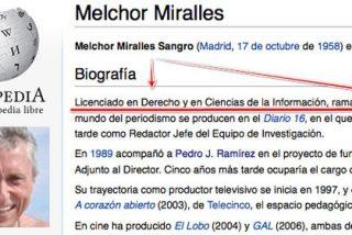 Tras mantener 12 años en su ficha de la Academia de Televisión que tenía dos carreras universitarias, un abochornado Melchor Miralles pide que borren la falsedad (II)