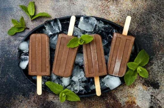 Polos caseros de chocolate sin azúcar