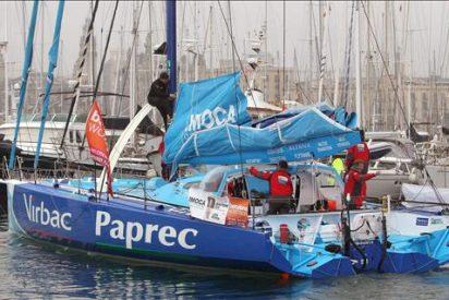 El 'Virbac Paprec 3' cruza primero Gibraltar; 'Estrella Damm', tercero