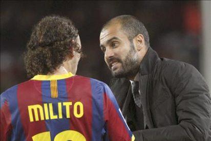 Guardiola abre la puerta del Barcelona a Milito