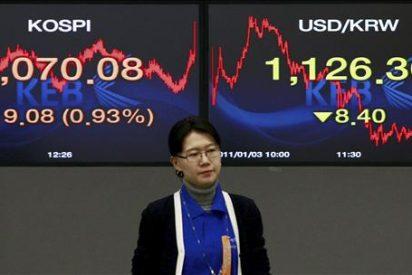 El índice Kospi bajó 0,18 por ciento hasta los 2.082,29 puntos
