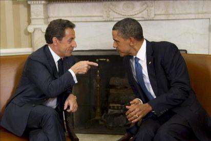 Obama y Sarkozy prometen colaborar en G20 para lograr progresos económicos