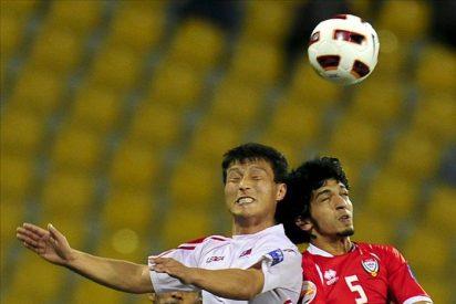 Empate sin goles entre Emiratos y Corea del Norte, que falló un penalti