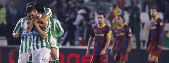 3-1. El Betis se despide de la Copa rompiendo el récord del poderoso Barcelona