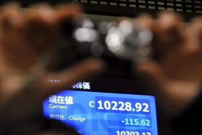 El Nikkei bajó 119,79 puntos, el 1,13 por ciento, hasta 10.437,31 enteros