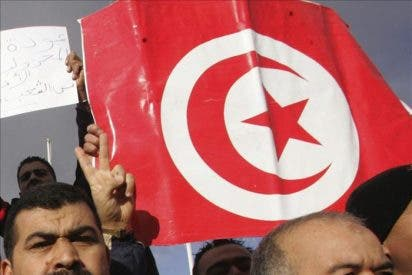 Centenares de policías se manifiestan por primera vez en el centro de Túnez