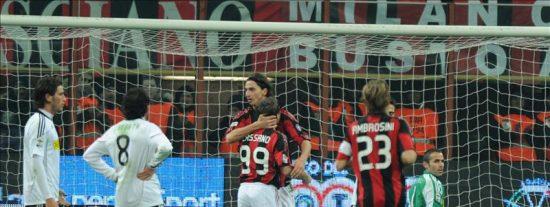 El Milan mantiene su ventaja al frente de la clasificación, el Inter pincha