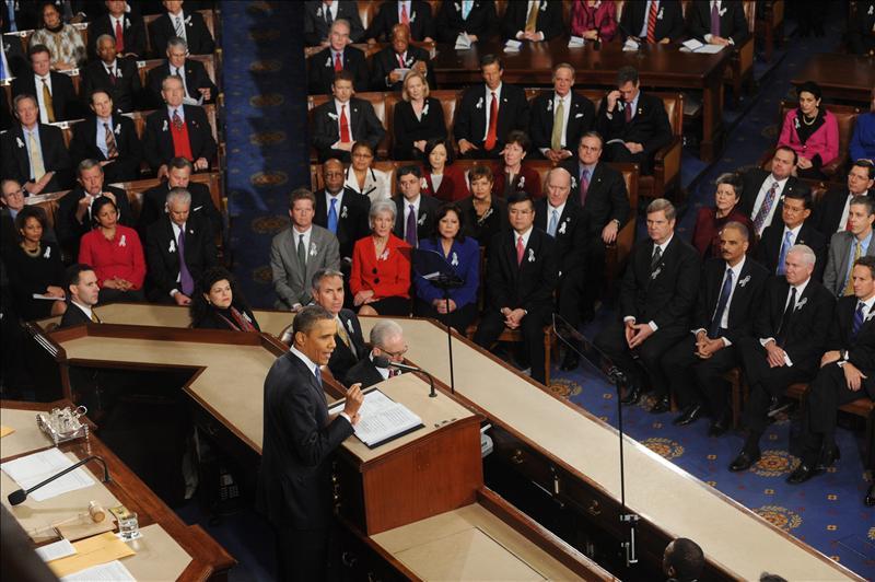 """Obama insta a EE.UU. a """"ganar el futuro"""" en el Estado de la Unión"""