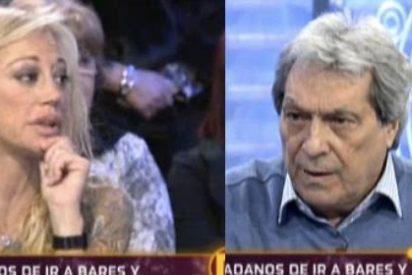 """La Esteban abandona 'La Noria' tras ser atacada por el actor Sancho Gracia: """"¡Deja de gritar, no me faltes el respeto!"""""""