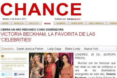 Victoria Beckham, la favorita de las 'celebrities'