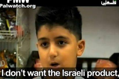 El logo del Gobierno de España aparece en la televisión palestina patrocinando el boicot a los productos israelíes