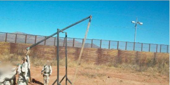 Requisan una catapulta que utilizaban los narcos para lanzar droga a EEUU