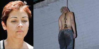 «La Pelirroja» recibió su misma saña: el cadáver de la mafiosa mexicana aparece colgado de un puente